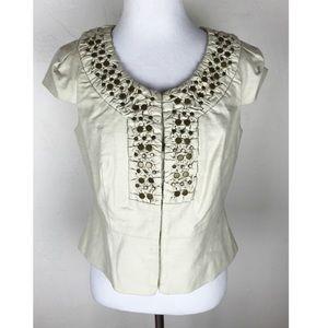 Anthropologie Idra Short Sleeve Blazer